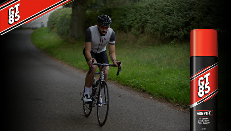 Tour de France special! Maintain your bike with GT85 bike spray.